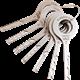 VAG – Set de 7 clés à vagues en acier poli