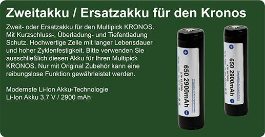 Zweitakku / Ersatzakku für den Kronos