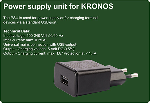 Power adapter unit for KRONOS