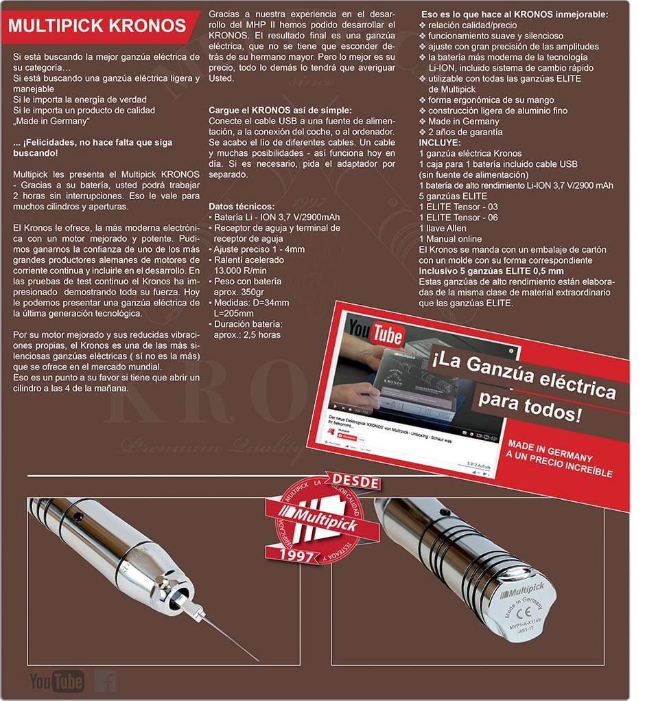 Multipick Kronos - The Electric Lock Pick for all