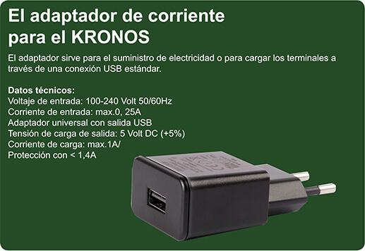El adaptador de corrientepara el KRONOS