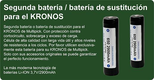 Segunda batería / batería de sustitución para el KRONOS