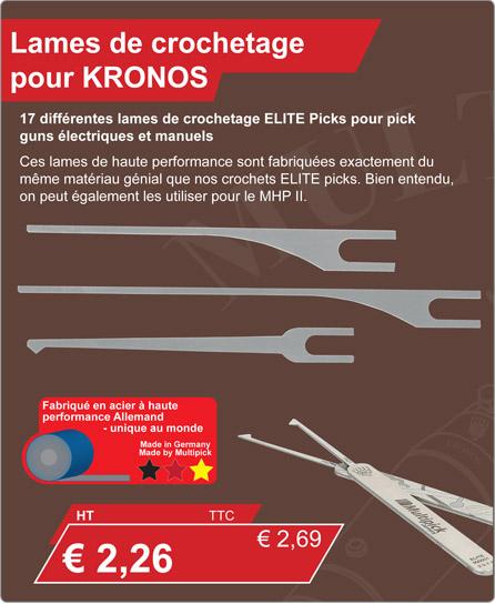 Lames de crochetage pour KRONOS