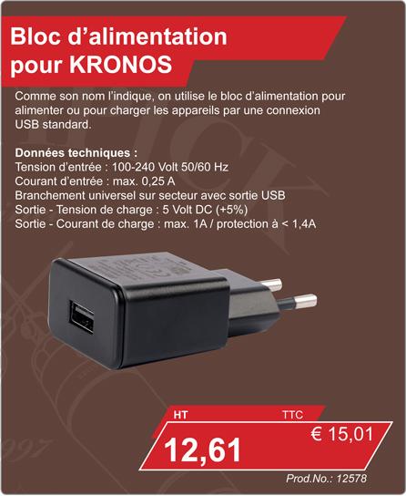 Bloc d'alimentation pour KRONOS