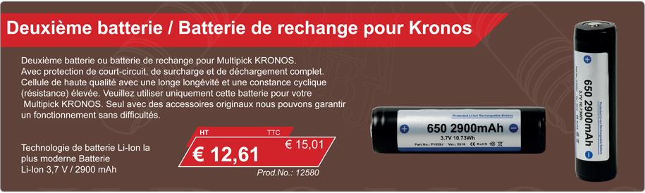 Deuxième batterie / Batterie de rechange pour Kronos
