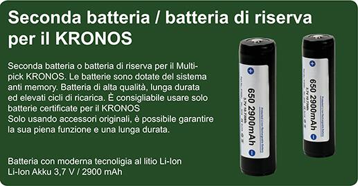 Batteria di riserva per il KRONOS