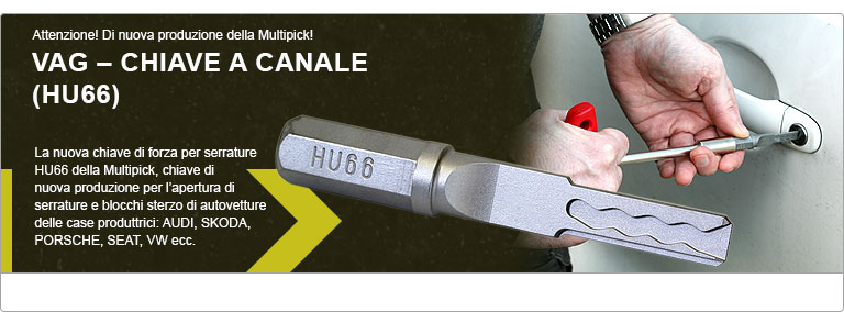 Multipick VAG - Chiave a canale (HU66)