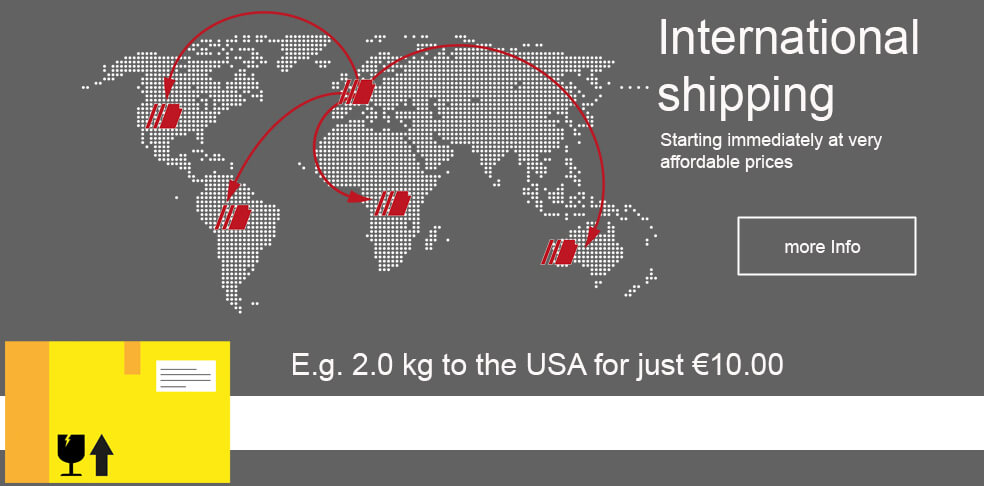 International shipping at a low price
